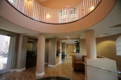 A luxurious lobby area in Bella Vista Condos