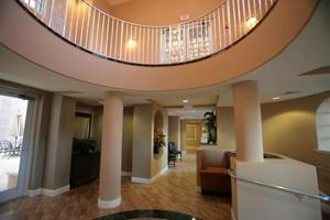 A luxurious lobby area in Bella Vista Condos